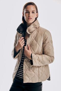Pedro del Hierro Ultralight A-line reversible coat Black