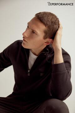 Pedro del Hierro Half-zip turtleneck sweatshirt Black