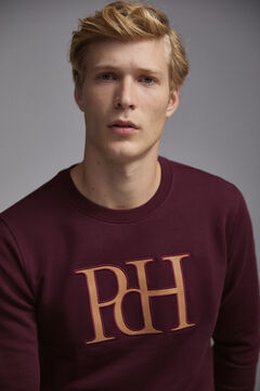 Pedro del Hierro Crew neck sweatshirt  Red