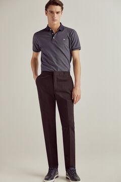 Pedro del Hierro Pants comfortable elastic waistband regular fit Black