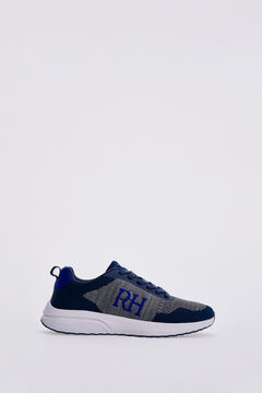 Pedro del Hierro Recycled fabric sneaker Blue