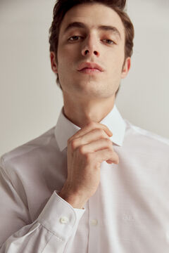 Pedro del Hierro Camisa de vestir lisa non-iron Blanco