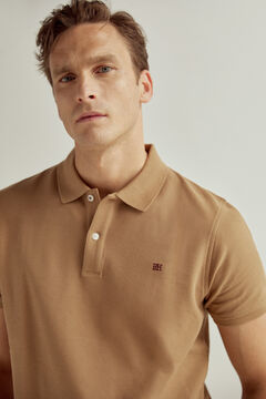 Pedro del Hierro Short-sleeved PdH logo polo shirt Beige