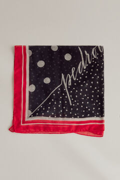 Pedro del Hierro Polka dot shawl Beige