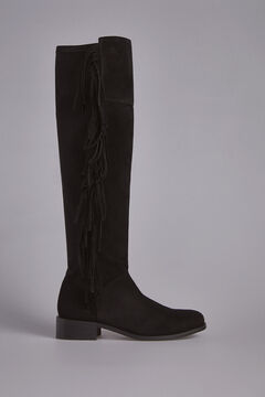 Pedro del Hierro High Boot with Tassels Black