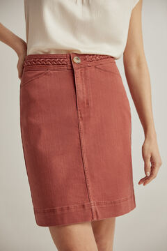Pedro del Hierro Coloured denim skirt Brown