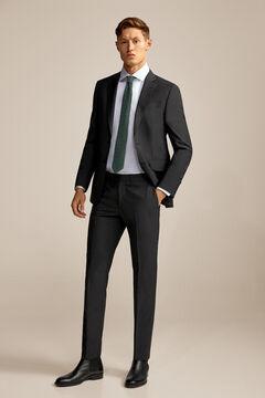Pedro del Hierro Slim fit suit trousers Grey