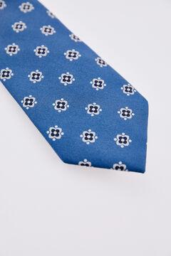 Pedro del Hierro Corbata estampada geométricos Azul