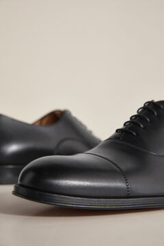 Pedro del Hierro Leather Oxford shoes with laces Black