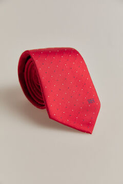 Pedro del Hierro Two-tone polka-dot tie Red