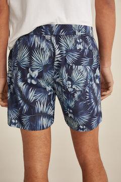 Pedro del Hierro Seaweed print swimming shorts Blue