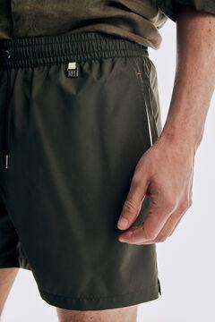 Pedro del Hierro Calções de banho lisos com bolsa da marca Cizento