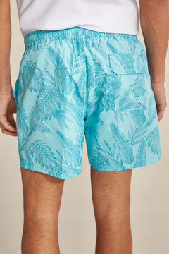 Pedro del Hierro Seaweed print swimming shorts Burgundy