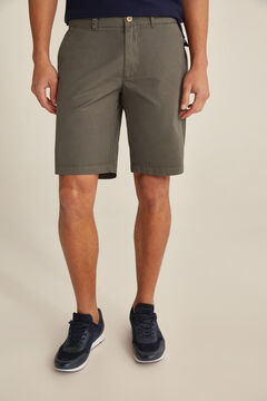 Pedro del Hierro Essential plain pima cotton Bermuda shorts Grey