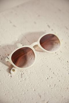 Pedro del Hierro Marbled sunglasses Ecru