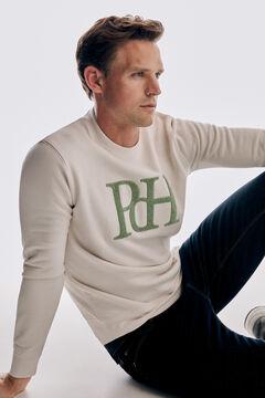 Pedro del Hierro Sweatshirt logo fantasia Ecru