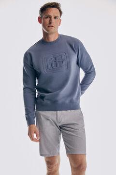 Pedro del Hierro Relief logo sweatshirt Burgundy