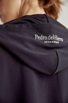 Pedro del Hierro Soft feel hooded sweatshirt Blue