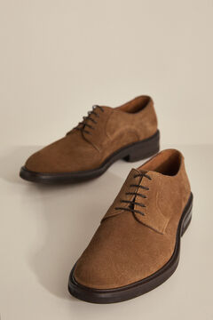 Pedro del Hierro Robber sole split leather shoe Brown