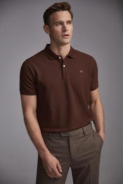 Pedro del Hierro Short-sleeved PdH logo polo shirt Brown