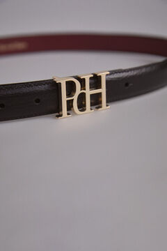 Pedro del Hierro Reversible logo buckle belt Red