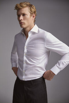 Pedro del Hierro Plain tailored fit Tech-Non Iron dress shirt White