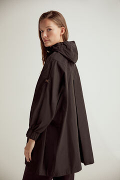 Pedro del Hierro Oversize hooded parka Black