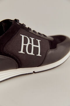 Pedro del Hierro Sneaker pele sola borracha Preto
