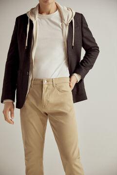 Pedro del Hierro Coloured slim fit 5-pocket TX Protect premium flex jeans Beige