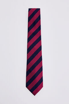 Pedro del Hierro Corbata raya bicolor Rojo