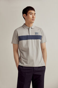 Pedro del Hierro Short-sleeved PdH logo polo shirt Grey
