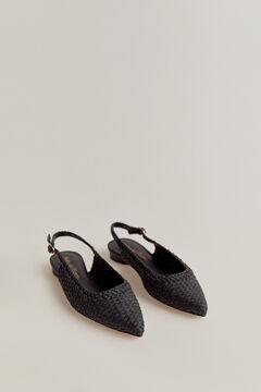 Pedro del Hierro Plaited shoe Blue
