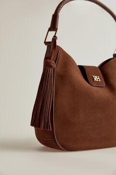 Pedro del Hierro Hobo leather suede bag Brown