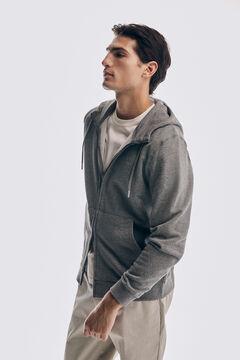 Pedro del Hierro Sweatshirt com capuz Cizento