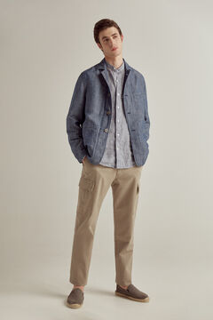 Pedro del Hierro Lightweight washed jacket Blue