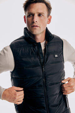 Pedro del Hierro Ultralight quilted gilet Black