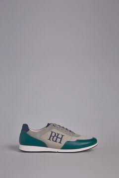 Pedro del Hierro Sneaker pele sola borracha Verde