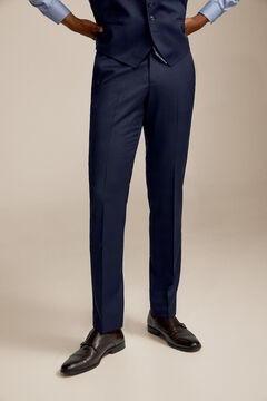 Pedro del Hierro Checked slim fit suit trousers Blue