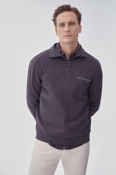 Pedro del Hierro Sweatshirt de gola semicisne Cizento