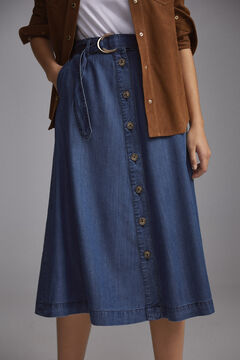 Pedro del Hierro Tencel® denim skirt Blue
