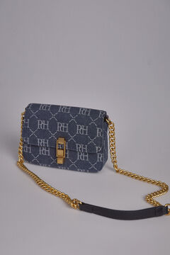 Pedro del Hierro Denim lapel crossbody bag Blue
