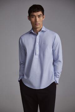 Pedro del Hierro Plain oxford shirt Blue