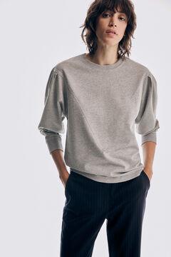 Pedro del Hierro Sweatshirt with long puffed sleeves Grey