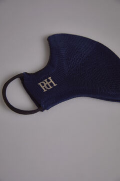 Pedro del Hierro Plain jersey-knit face mask Blue