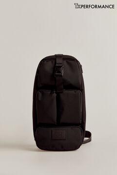 Pedro del Hierro Nylon crossbody bag Black