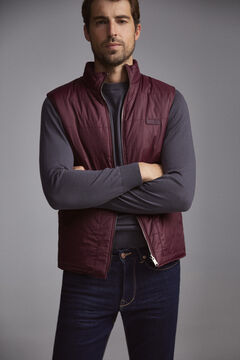 Pedro del Hierro Reversible gilet with zip Red