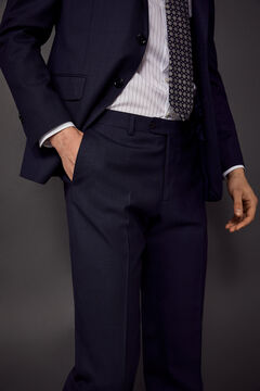 Pedro del Hierro Tailored fit suit trousers Blue