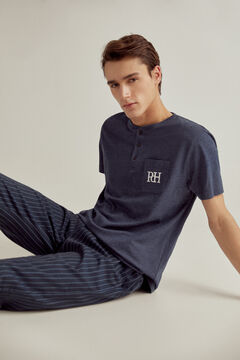 Pedro del Hierro Jersey-knit and cotton pyjamas Blue
