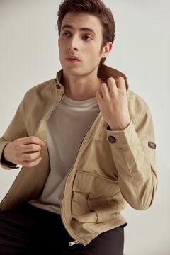 Pedro del Hierro Washed linen PdH jacket Beige