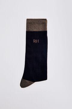 Pedro del Hierro Plain logo socks Brown